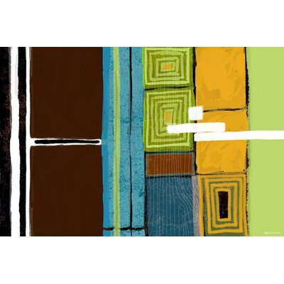 'WorldViews' Abstract Graphic Art on Wrapped Canvas Size: 18