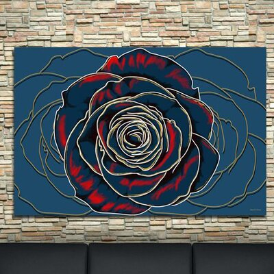 'Rose' Flower Graphic Art on Wrapped Canvas Size: 20