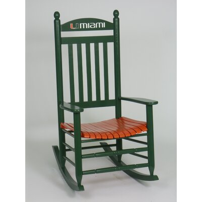 Collegiate Rocking Chair NCAA Team: University of Miami image