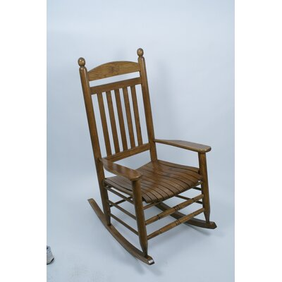 Collegiate Rocking Chair NCAA Team: University of Illinois