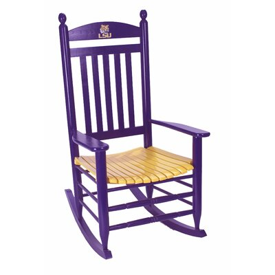 Collegiate Rocking Chair NCAA Team: LSU image