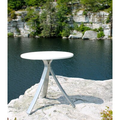 Jug Side Table Frame Color: Silver, Top Color: White