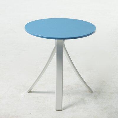 Jug Side Table Frame Finish: White, Top Finish: Blue