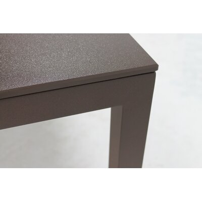 Jug Dining Table Frame Finish: Black, Top Finish: Tan