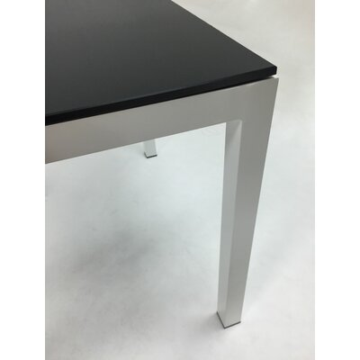 Jug Dining Table Frame Finish: Silver, Top Finish: Red