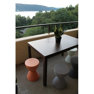Jug Dining Table Frame Finish: Silver, Top Finish: Tan