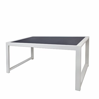 Jug Coffee Table Frame Finish: White, Top Finish: Brown