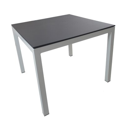 Jug Dining Table Frame Finish: Silver, Top Finish: Black