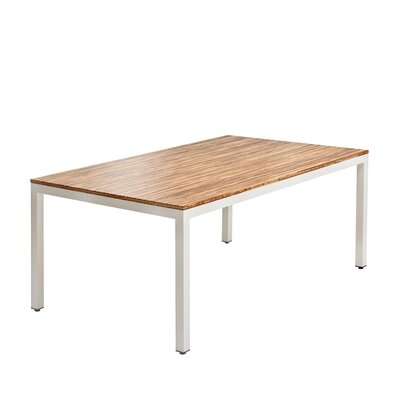 Sustain Dining Table Frame Finish: White, Top Finish: Sahara