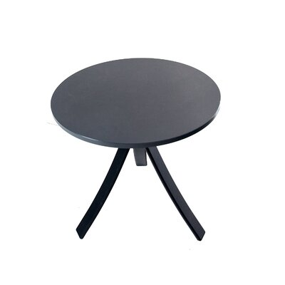 Jug Side Table Frame Color: Black, Top Color: Brown
