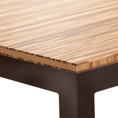 Sustain Bar Table Top Finish: Natural, Base Finish: Black
