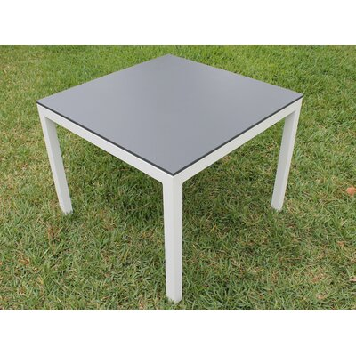 Jug Dining Table Frame Finish: White, Top Finish: Slate