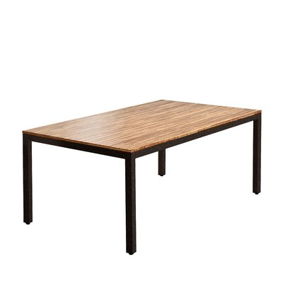 Sustain Dining Table Top Finish: Chocolate, Frame Finish: Black