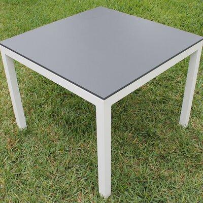 Jug Dining Table Frame Finish: White, Top Finish: Slate