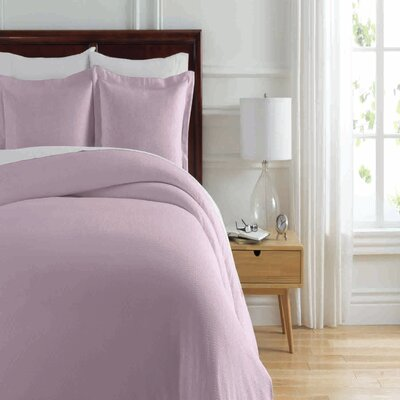 Soho New York Home Lafayette Duvet Cover Set Size: Full/Queen, Color: Lilac