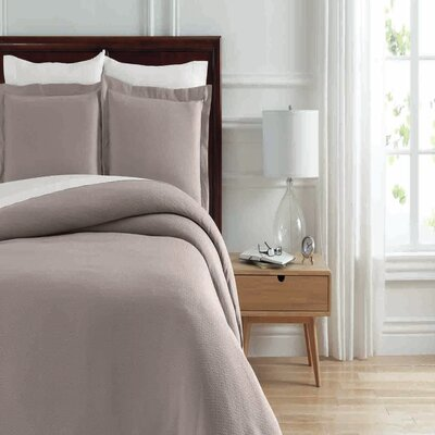 Soho New York Home Lafayette Duvet Cover Set Size: King, Color: Taupe