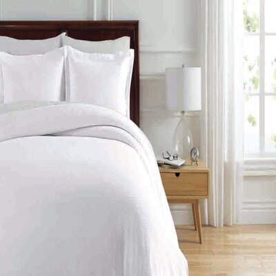 Soho New York Home Lafayette Duvet Cover Set Color: White, Size: Twin