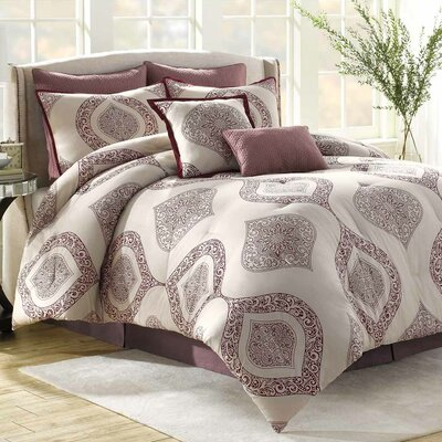 Bergen 8 Piece Comforter Set Size: Full / Queen