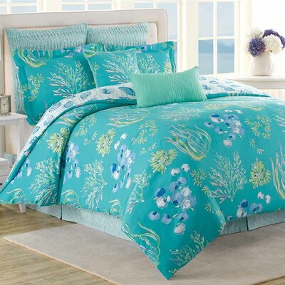 Beachcomber 8 Piece Reversible Comforter Set Size: King
