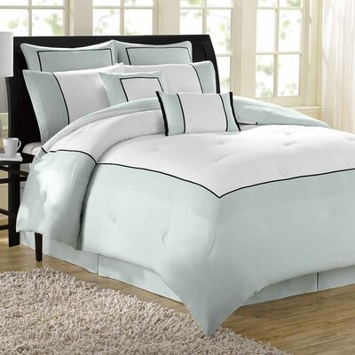 Hotel 8 Piece Comforter Set Size: King