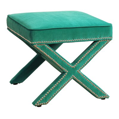 Reese Ottoman Upholstery: Green