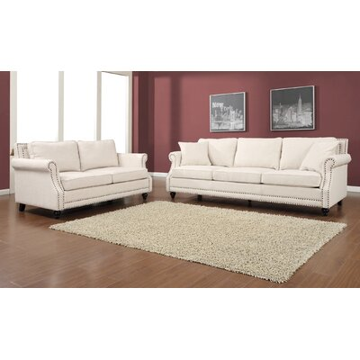 Camden 2 Piece Living Room Set Upholstery: Beige