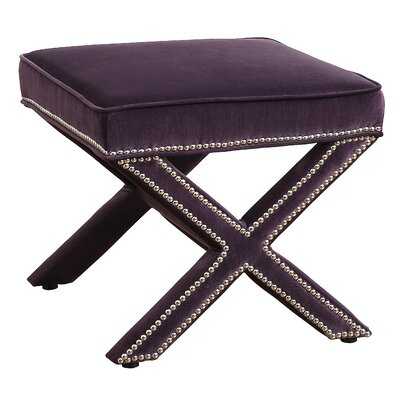 Reese Ottoman Upholstery: Purple