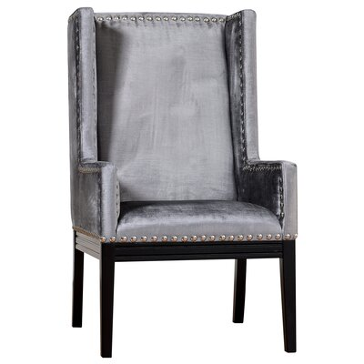 Tribeca Wing back Chair Finish: Grey