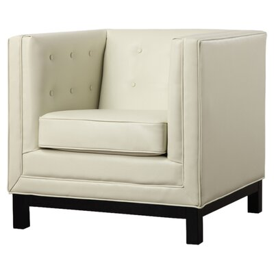 Zoe Club Chair Color: Cream