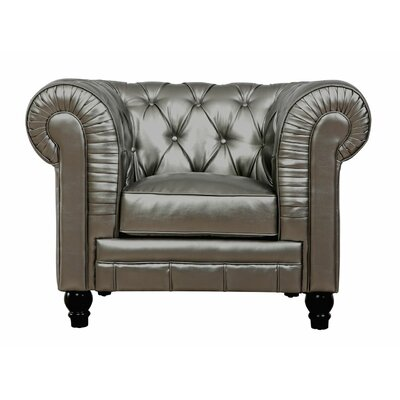 Zahara Club Chair Upholstery: Silver