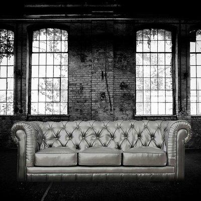 Zahara Chesterfield Sofa Upholstery: Silver