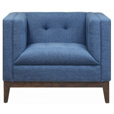 Gavin Arm Chair Color: Blue