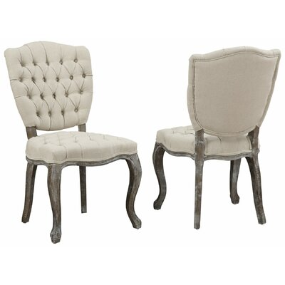 Amelia Side Chair in Linen - Beige