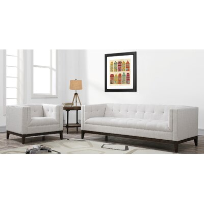 Ramey Linen 2 Piece Living Room Set Upholstery: Beige