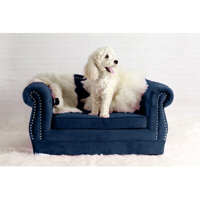 Yorkshire Dog Sofa Color: Navy