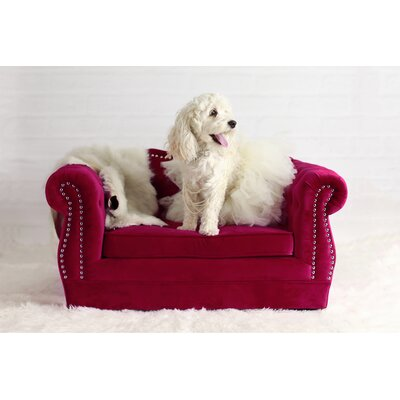 Yorkshire Dog Sofa Color: Pink