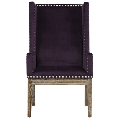 Tribeca Wing back Chair Finish: Purple