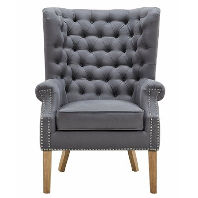 Lepore Wingback Armchair Upholstery: Gray