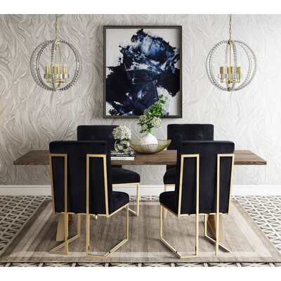 Alvaro 5 Piece Dining Table Set Color: Black