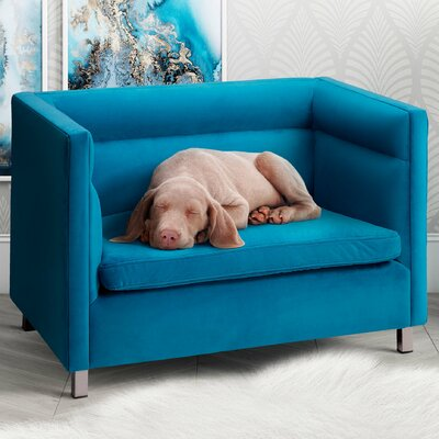 Beagle Dog Sofa Color: Light Blue