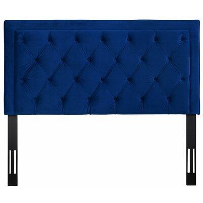Rowan Upholstered Panel Headbaord Size: 55 H x 62.2 W x 3.2 D, Upholstery: Navy
