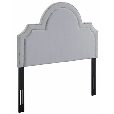 Heverlee Upholstered Panel Headbaord Size: 58.7 H x 41.1 W x 2.4 D, Upholstery: Sea Blue