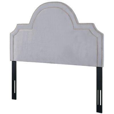 Heverlee Upholstered Panel Headbaord Size: 58.7 H x 61.8 W x 2.4 D, Upholstery: Gray