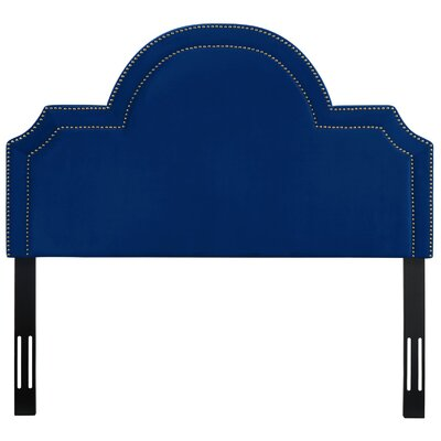 Heverlee Upholstered Panel Headbaord Size: 58.7 H x 41.1 W x 2.4 D, Upholstery: Navy