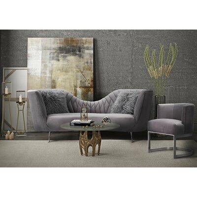 Southwark 2 Piece Velvet Sofa Set Upholstery: Gray