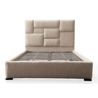 Siegrist Upholstered Panel Bed Size: King