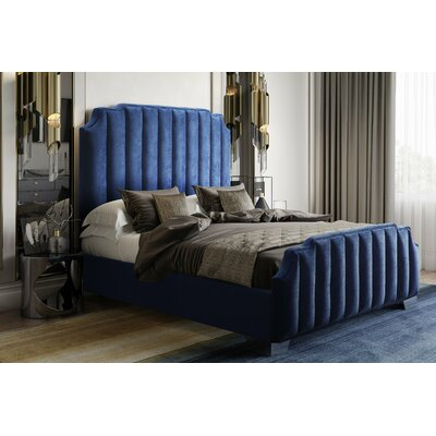 Zulema Velvet Upholstered Platform Bed Size: King
