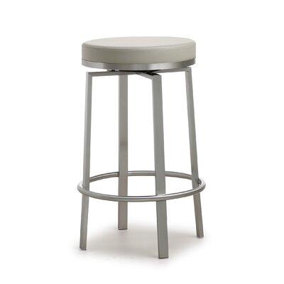 Fayston Steel 26 Swivel Bar Stool Upholstery: Gray