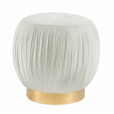 Brynner Pouf Upholstery: Cream