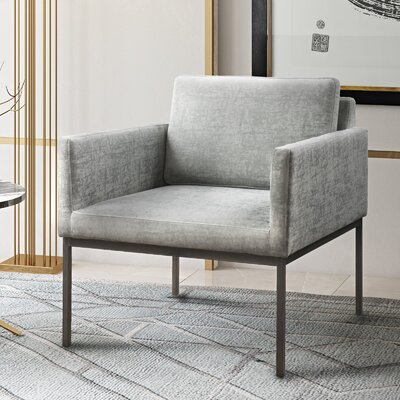 Carden Arm Chair Upholstery: Gray